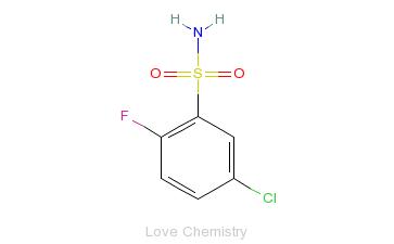 CAS:351003-57-1_5-氯-2-氟苯磺酰胺的分子结构
