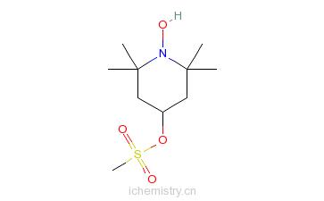 CAS:35203-66-8_2,2,6,6-四甲基-4-(甲基磺氧基)-1-哌啶氧自由基的分子结构