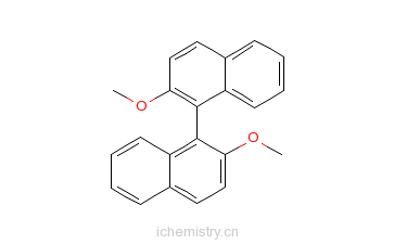 CAS:35294-28-1_(R)-(+)-2,2'-二甲氧基-1,1'-联萘的分子结构