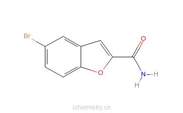 CAS:35351-21-4_5-溴苯并呋喃-2-甲酰胺的分子结构