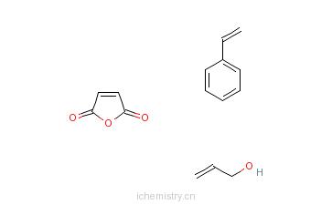 CAS:35381-44-3_2,5-呋喃二酮与乙烯基苯和2-丙烯-1-醇的聚合物的分子结构