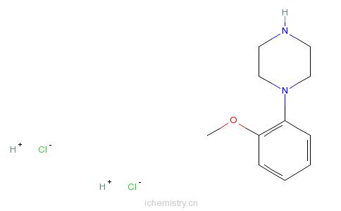 CAS:35386-24-4_1-(2-甲氧苯基)哌嗪的分子结构