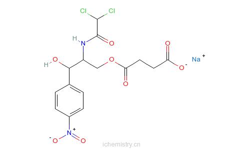CAS:3544-94-3_琥珀酸氯霉素的分子结构