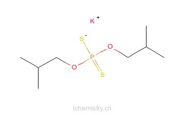 CAS:3549-52-8_二异丁基二硫代磷酸钾的分子结构