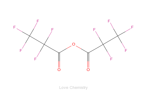 CAS:356-42-3_五氟丙酸酐的分子结构