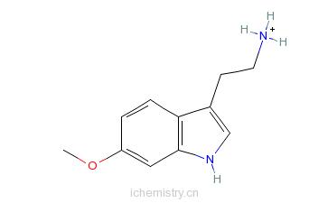 CAS:3610-36-4_6-甲氧基色胺的分子结构