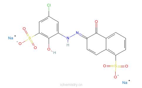 CAS:3624-68-8_酸性媒介藏青RRN的分子结构