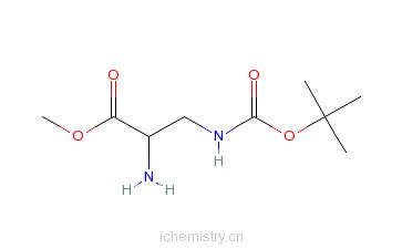 CAS:363191-25-7_D-3-N-Boc-2,3-二氨基丙酸甲酯的分子结构