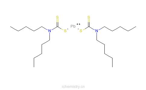 CAS:36501-84-5_(T-4)-二(二戊基二硫代氨基甲酸根-S,S')合铅的分子结构