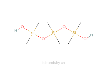 CAS:3663-50-1_六甲基-1,5-二氢氧基三硅氧烷的分子结构