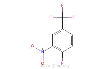 CAS:367-86-2_2-硝基-4-三氟甲基氟苯的分子结构