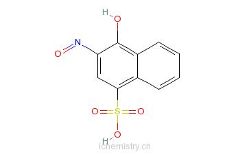 CAS:3682-32-4_2-亚硝基-1-萘酚-4-磺酸水合物的分子结构
