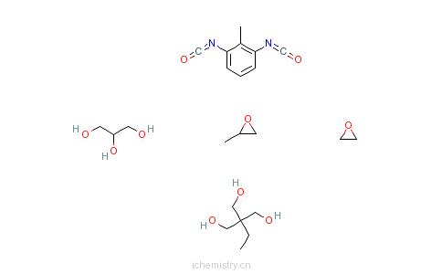 CAS:37367-41-2_1,2,3-丙三醇、1,3-二异氰酸根合甲苯、2-乙基-2-(羟甲基)-1,3-丙二醇、甲基环氧乙烷和环氧乙烷的聚合物的分子结构