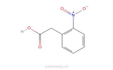 CAS:3740-52-1_2-硝基苯乙酸的分子结构