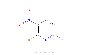 CAS:374633-31-5_2-溴-6-甲基-3-硝基吡啶的分子结构
