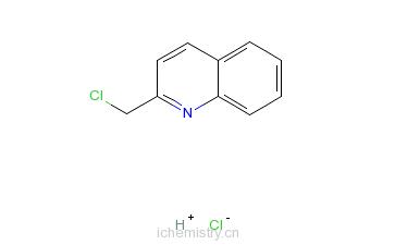 CAS:3747-74-8_2-氯甲基喹啉盐酸盐的分子结构