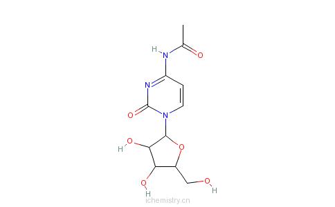 CAS:3768-18-1_N-乙酰胞嘧啶的分子结构