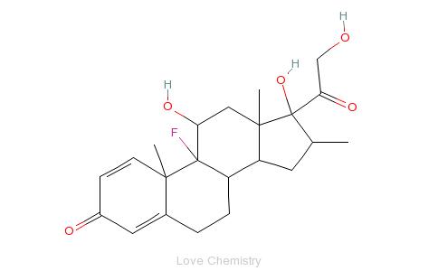 CAS:378-44-9_倍他米松的分子结构