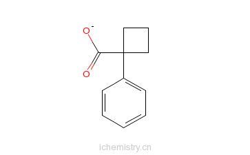 CAS:37828-19-6_1-苯基环丁基甲酸的分子结构