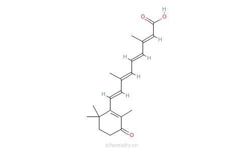 CAS:38030-57-8_4-KETO全反式维甲酸的分子结构