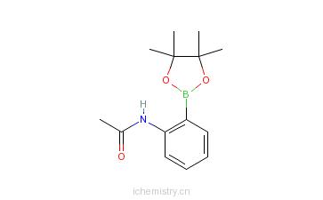 CAS:380430-61-5_2-乙酰胺基苯硼酸频哪醇酯的分子结构