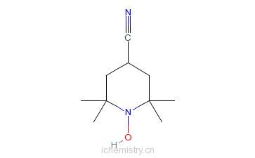CAS:38078-71-6_4-氰-2,2,6,6-四甲基哌啶-1-氧的分子结构