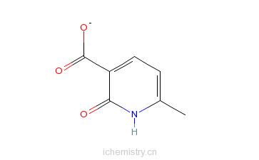 CAS:38116-61-9_2-羟基-6-甲基烟酸的分子结构