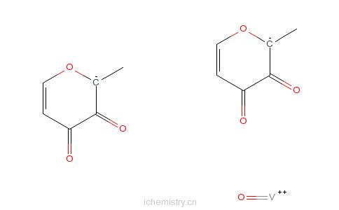 CAS:38213-69-3_双(麦芽醇)氧钒(IV)的分子结构
