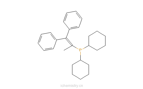 CAS:384842-24-4_二环己基(2,2-二苯基-1-甲基乙烯基)磷化氢的分子结构