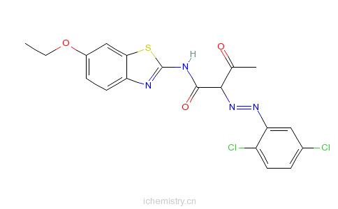 CAS:38489-25-7_2-[(2,5-二氯苯基)偶氮]-N-(6-乙氧基-2-苯并噻唑基)-3-氧代丁酰胺的分子结构