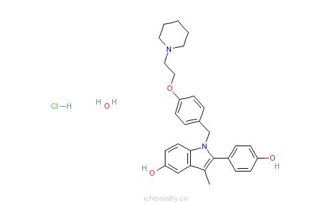 CAS:389125-71-7_哌喷昔芬盐酸盐一水物的分子结构
