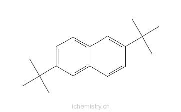 CAS:3905-64-4_2,6-二叔丁基萘的分子结构