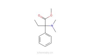 CAS:39068-93-4_A-二甲氨基,A-乙基,苯乙酸甲酯的分子结构