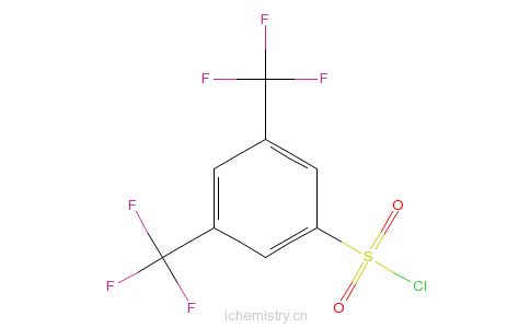 CAS:39234-86-1_3,5-双三氟甲基苯磺酰氯的分子结构