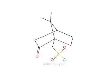 CAS:39262-22-1_左旋樟脑-10-磺酰氯的分子结构