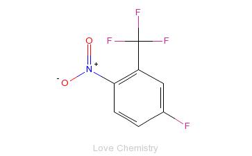 CAS:393-09-9_5-氟-2-硝基三氟甲苯的分子结构