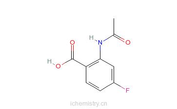 CAS:394-27-4_4-乙酰胺基-4-氟苯甲酸的分子结构