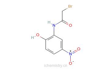 CAS:3947-58-8_2-溴乙酰胺4-硝基苯酚的分子结构