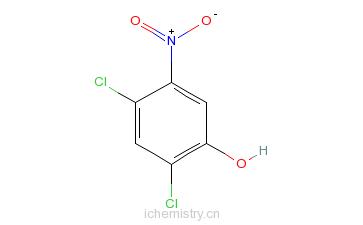 CAS:39489-77-5_2,4-二氯-5-硝基苯酚的分子结构