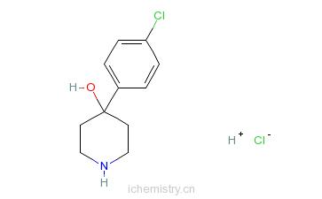 CAS:39512-49-7_4-(4-氯苯基)-4-羟基哌啶的分子结构