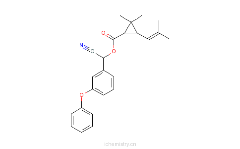 CAS:39515-40-7_苯氰菊酯的分子结构