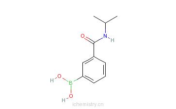 CAS:397843-69-5_3-(N-异丙基氨基羰基)苯硼酸的分子结构