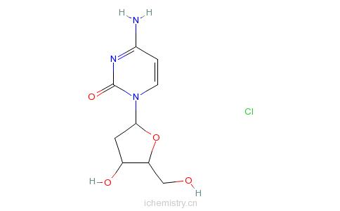 CAS:3992-42-5_2'-脱氧胞苷盐酸盐的分子结构