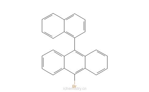 CAS:400607-04-7_9-溴-10-(1-萘基)蒽的分子结构