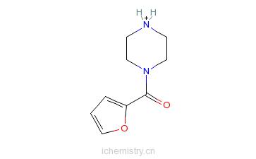 CAS:40172-95-0_1-(2-呋喃甲酰基)哌嗪的分子结构