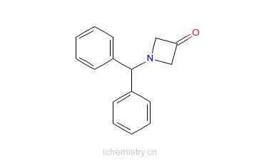 CAS:40320-60-3_1-二苯甲基氮杂环丁烷-3-酮的分子结构
