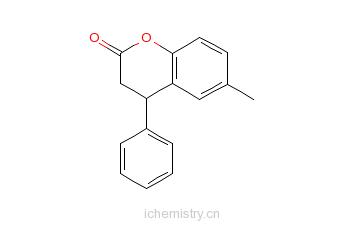 CAS:40546-94-9_6-甲基-4-苯基色满-2-酮的分子结构