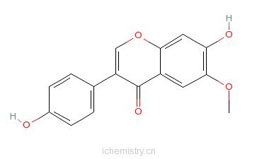 CAS:40957-83-3_黄豆黄素的分子结构
