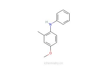 CAS:41317-15-1_2-甲基-4-甲氧基二苯胺的分子结构
