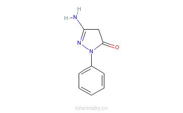 CAS:4149-06-8_3-氨基-1-苯基-2-吡唑啉-5-酮的分子结构